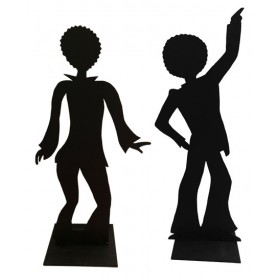 70s Dancing Silhouette