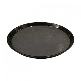 Black Round Serving Tray