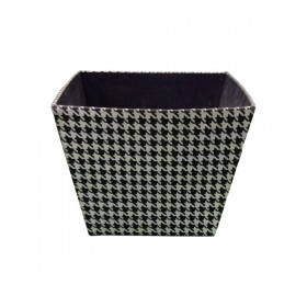 Black and White Checkered Fabric Basket