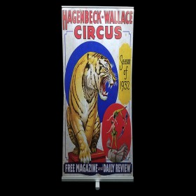 Circus Pop Up Banner with Tiger