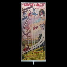 Circus Stunt Pop Up Banner