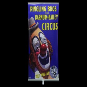 Circus Pop Up Banner with Clown