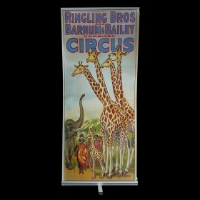 Circus Pop Up Banner with Giraffes & Elephant