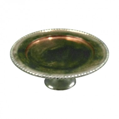 Gold & Silver Cake Tray with Stand
