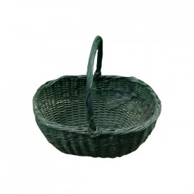 Green Egg Shaped Weave Basket