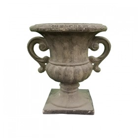 Grey Faux Stone Flower Pot