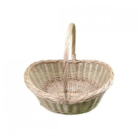 Large Curved Weaved Basket with Handle