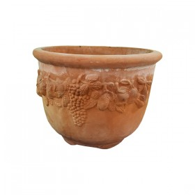 Terracotta Pot with Design