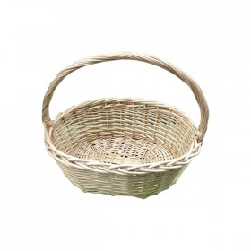 Large Weaved Basket with Handle