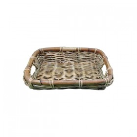 Large Weaved Tray with Handles