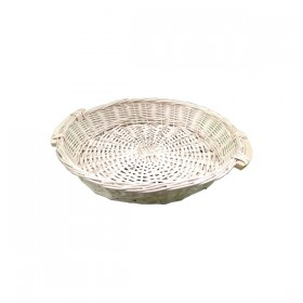 Light Weaved Flat Tray with Handles