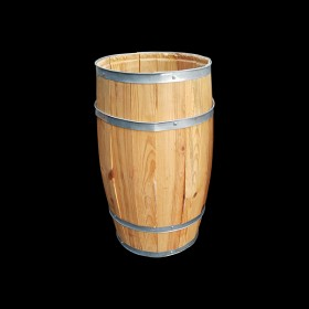 Large Light Wood Barrel