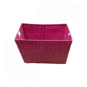 Pink Fabric Weaved Basket