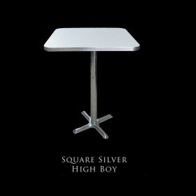 50's Square Silver Highboy