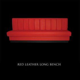 Red Leather Long Bench