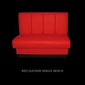 Red Leather Single Bench