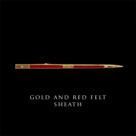 Cast Gold and Red Felt Sheath