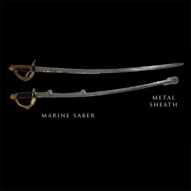 Cast Marine Saber with Sheath