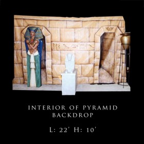 Interior of Pyramid Backdrop