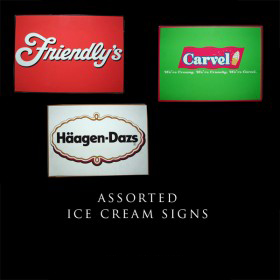 Assorted Ice Cream Signs