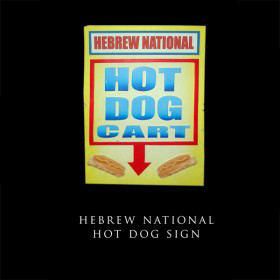 Hebrew National Hot Dog Sign
