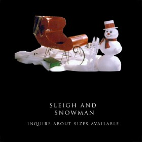 Winter Sleigh and Snowman