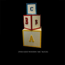 Oversized Wooden ABC Blocks