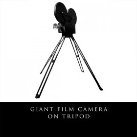 Giant Film Camera on Tripod