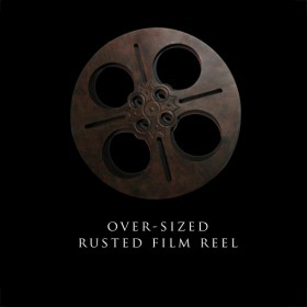 Oversized Rusted Film Reel