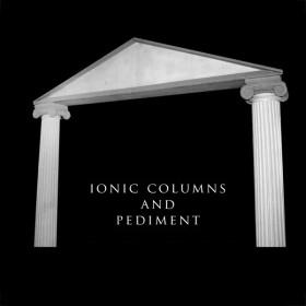 Ionic Columns and Pediment