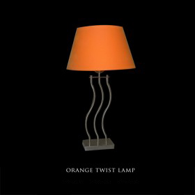 Orange Twist Lamp