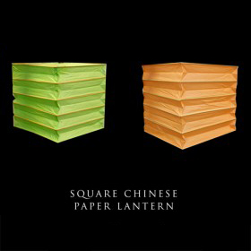Square Chinese Paper Lantern