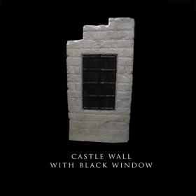 Castle Wall with Black Window