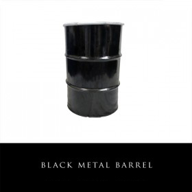 Black Metal Barrel