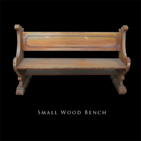 Park Bench (Small Wooden)
