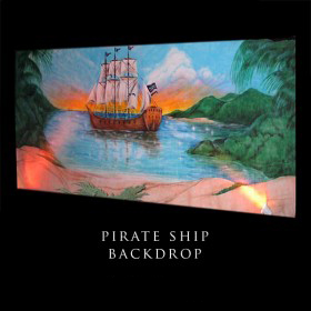 Pirate Ship Backdrop