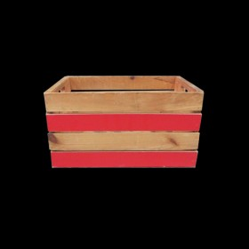 Crate with Red Stripes