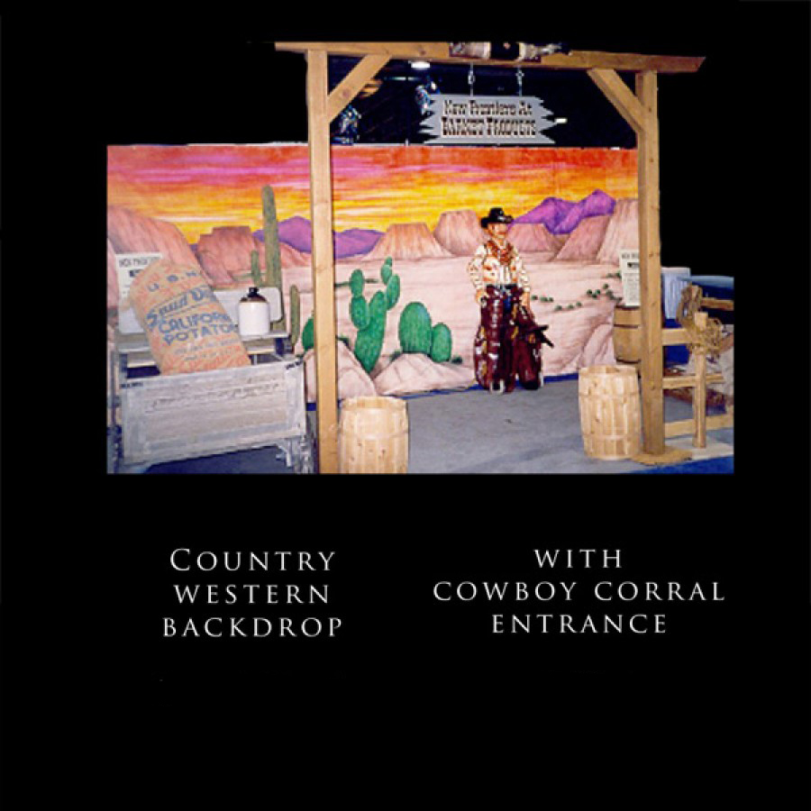 Country Western Backdrop Set Event Prop Rentals