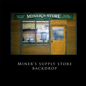 Miner's Supply Store Backdrop