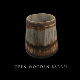 Open Wooden Barrel