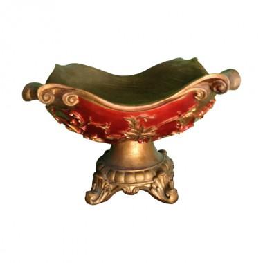 Red Oriental Bowl