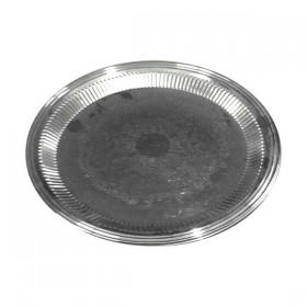Flat Silver Round Tray