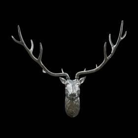 Silver Deer Head