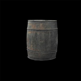 Small Dark Wood Barrel