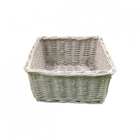 Square White Weaved Basket