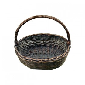 Two Toned Brown Weaved Basket
