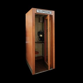 Vintage Wood Panel Phone Booth