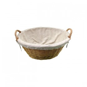 Round Weaved Basket with Cloth Insert