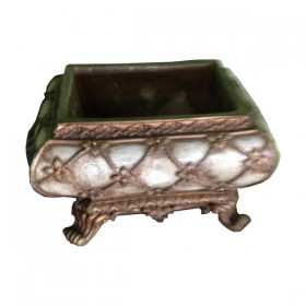 White & Gold Oriental Planter