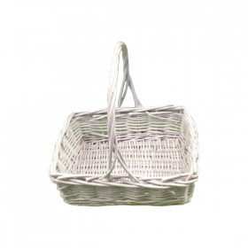 White Square Weaved Basket